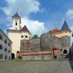 Courtyard of Palanok castle in Mukacheve, Ukraine — Stock Photo #43037151