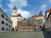 Courtyard of Palanok castle in Mukacheve, Ukraine — Stockfoto