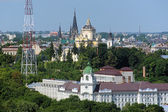 St. George's Cathedral and Church of St. Olha and Elizabeth in Lviv — Stock Photo
