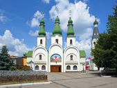 Theotokos of Pochayiv Cathedral in Mukacheve, Ukraine — Stock Photo