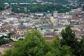 View of Lviv from Castle Hill, Ukraine — Φωτογραφία Αρχείου