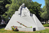 Monument of Taras Shevchenko in Poltava, Ukraine — Стоковое фото
