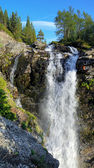 Waterfall on Risjok river in Khibiny Mountains, Kola Peninsula,  — Stock fotografie