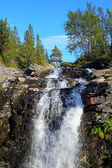 Waterfall on Risjok river in Khibiny Mountains, Kola Peninsula,  — Stock Photo