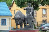 Monument of Vladimir Vasilkovich, prince of Volhynia, in Kamenet — Stock Photo