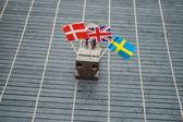 Verschillende vlaggen — Stockfoto