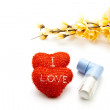 Stock Photo: Red Hearts with Inhaler