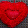 Red Heart for Decoration in the Nature — Photo