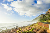 Cape town nature landscape with ocean and beach shore — Stock Photo