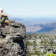 Table mountain, 7 new world wonders inside of Cape Town city — Stock Photo