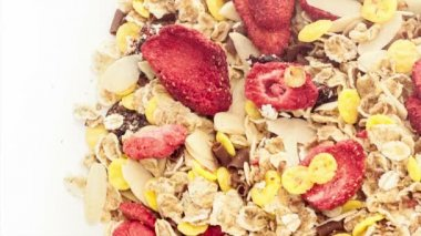Mixed muesli — Stock Video