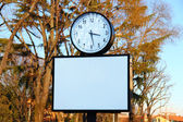 Stand via orologio — Foto Stock