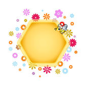 Floral Honeycomb design element — Stock Vector