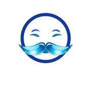 Mustache logo — Stock Vector