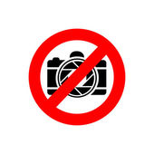 Photography restricted — Stock Vector