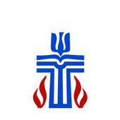 Presbiteryen dinin sembolü — Stok Vektör