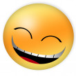 Smiling emoticon — Stock Photo #19746657