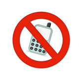Mobiles not allowed — Foto Stock