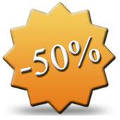 50 percent discount — Stock Photo