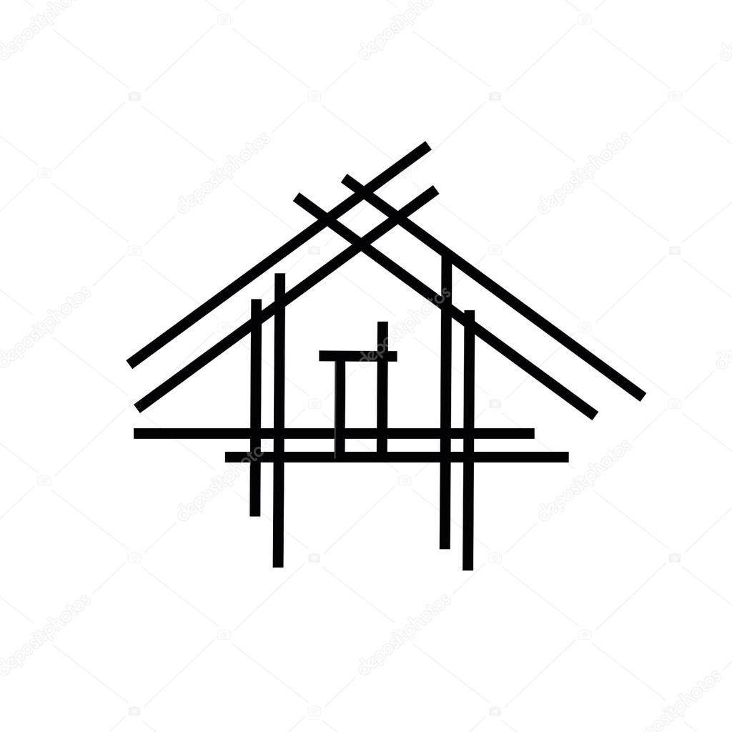 Stock Photo Real Estate House Logo further Accessory Buildings And Structures likewise Royalty Free Stock Image Sketch Residential Terraced Houses Image25535406 as well Roof valley drawings additionally 1152 Square Feet 2 Bedroom 2 Bathroom 0 Garage Craftsman 38861. on gable roof plan