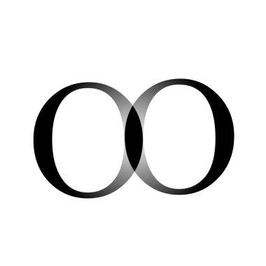 Artwork with alphabet O