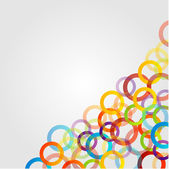 Background with colorful circles — Stock Vector