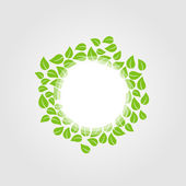 Design element with green leaves — Stock Vector