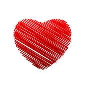 Sketch cuore rosso — Vettoriale Stock