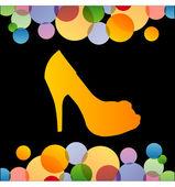 Shoe with colorful circles — Vecteur