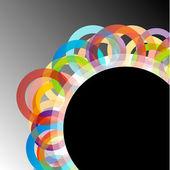 与多彩圆圈背景 — 图库矢量图片