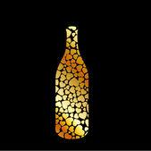 Bottle typography — Stock Vector