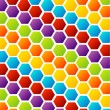 Stock Vector: Hexagon background