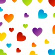 Colorful hearts background — Stock Vector