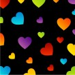 Colorful hearts background — Stock Vector #30247089