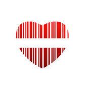 Heart bar code — Stock Vector