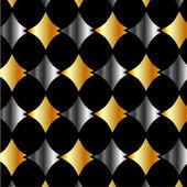 Zlaté a stříbrné kovové pozadí — Stock vektor