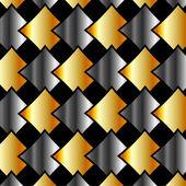 Metallic chequered background — Stock Vector
