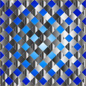 Blue metal grid background — Stock Vector