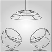 Interior design sketched — Stock Vector