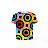 T Shirt Template- vibrant circles — Vector de stock