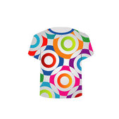 T Shirt Template- vibrant circles — ストックベクタ