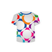T Shirt Template- vibrant circles — Stock Vector