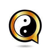 Алфавит Q с символ Инь и Ян — Cтоковый вектор