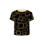 T Shirt Template- Printable tshirt graphic — Stock Vector