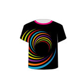 T Shirt Template- vibrant circles — Vecteur