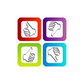 Thumbs Up and Thumbs Down — Stock Vector