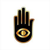 Hand with the eye — Stock Vector