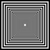 Perspectiva de ponto uma ilusão de perspectiva do interior — Vetor de Stock