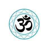 Religious Symbol of Hinduism- Pranava — Stock Vector