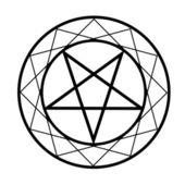 Pentacle- Religious symbol satanism — Stock Vector
